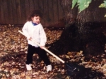 Emily Brooks as a child